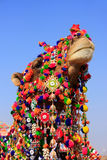 Portrait of decorated camel at Desert Festival, Jaisalmer, India Royalty Free Stock Images