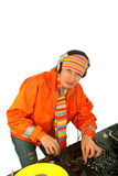 Portrait  deejay Royalty Free Stock Photography