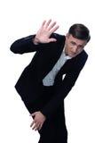 Portrait of a defaulter businessman stock images
