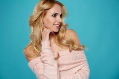 Portrait of delicate blonde woman Stock Image