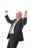 Portrait of a delighted mature businessman Royalty Free Stock Images