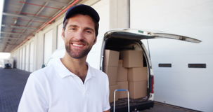 Portrait of a deliveryman