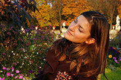 Portrait in den Herbstfarben Lizenzfreies Stockfoto
