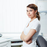 Portrait of dental assistant with arms crossed Stock Image