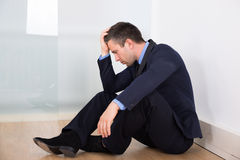 Portrait Of Depressed Businessman Stock Photos