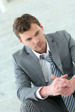 Portrait of depressed businessman Stock Photo