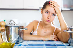 Portrait of depressed girl Stock Photo