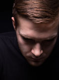 Portrait of depressed man Stock Image