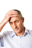 Portrait of depressed mature man Royalty Free Stock Photo