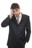 Portrait of depressed sad tired business man Royalty Free Stock Photo