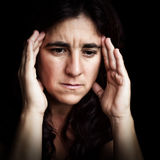 Portrait of a depressed and sad woman Royalty Free Stock Image