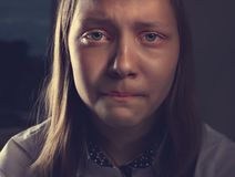 Portrait of a depressed teen girl Stock Photo