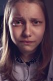 Portrait of a depressed teen girl Stock Image