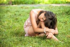 Portrait of depressed teenager girl Royalty Free Stock Image