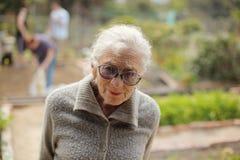 Portrait der älteren Frau lizenzfreie stockfotografie