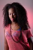 Portrait der afrikanischen Frau lizenzfreie stockfotografie