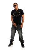 Portrait der Afroamerikaner-Mann-Stellung Lizenzfreies Stockbild