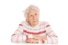 Portrait der alten Frau Stockbilder