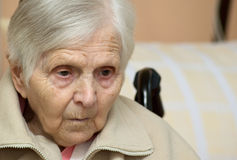 Portrait der alten Frau. Lizenzfreies Stockbild