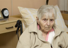 Portrait der alten Frau. Stockfotografie