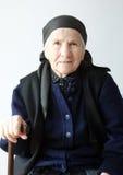 Portrait der alten Frau lizenzfreie stockfotografie