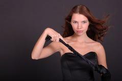 Portrait der attraktiven Frau lizenzfreie stockfotos