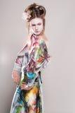 Portrait der attraktiven jungen Frauen in der asiatischen Art Stockbilder