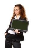 Portrait der attraktiven jungen Geschäftsfrau Stockfotos