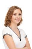 Portrait der attraktiven lächelnden Frau Stockfoto