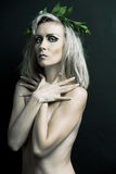 Portrait der blanken Frau. Stockfoto