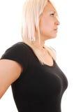 Portrait der blonden Frau. Lizenzfreies Stockbild
