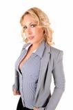 Portrait der blonden Frau lizenzfreies stockbild