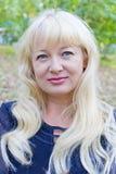 Portrait der blonden Frau Lizenzfreie Stockbilder