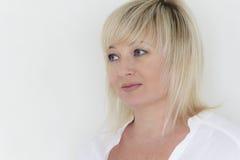 Portrait der blonden Frau Stockbilder