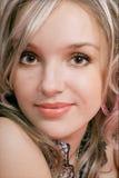 Portrait der Blondine Stockfotografie