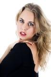 Portrait der Blondine mit blauem Auge lizenzfreies stockfoto