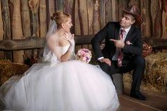 Portrait der Braut und des Bräutigams lizenzfreie stockfotos