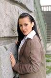 Portrait der dünnen Dame Lizenzfreies Stockfoto