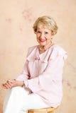Portrait der eleganten älteren Dame Lizenzfreies Stockfoto