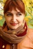 Portrait der fälligen Frau Lizenzfreies Stockfoto