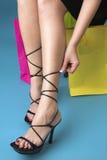 Portrait der Füße im hohen Absatz Lizenzfreie Stockfotografie