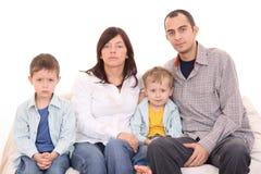 Portrait der Familie Stockbild