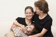 Portrait der Familie Lizenzfreies Stockfoto