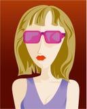 Portrait der Frau lizenzfreie abbildung