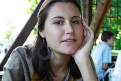 Portrait der Frau im Freien Stockbilder