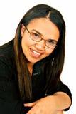 Portrait der Frau im Schwarzen Lizenzfreie Stockfotos