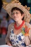 Portrait der Frauen in a Herbst-wie Kleid Lizenzfreie Stockfotos