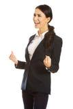 Portrait der freundlichen Geschäftsfrau stockfotografie