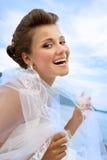 Portrait der glücklichen Braut Stockbild