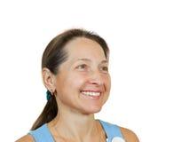 Portrait der glücklichen fälligen Frau Lizenzfreies Stockfoto